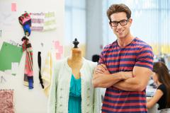 Male fashion designer in studio Stock Photos