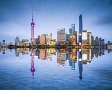 Shanghai, china city skyline Kuvituskuvat