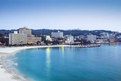 shirahama, japan beachfront skyline - stock photo