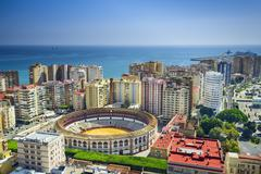 Malaga, spain cityscape at Stock Photos