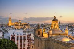Seville, spain city skyline Stock Photos