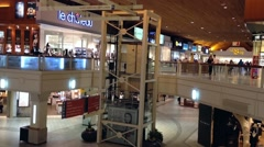 One side of coquitlam center shopping mall Arkistovideo