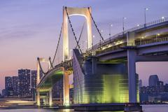 Tokyo, japan at rainbow bridge Stock Photos