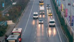 Rush hour traffic from above in Istanbul - stock footage