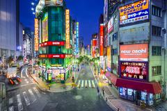 Shinjuku, tokyo, japan cityscape at twilight Stock Photos