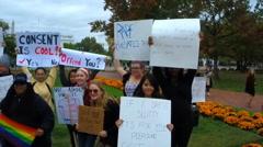 (1 of 2) Slutwalk Protest in Washington, D.C. Stock Footage