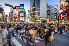 Shibuya crossing Kuvituskuvat