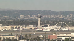 Planes Landing at LAX Stock Footage