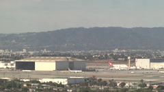 Planes Takes off at LAX 1 Stock Footage