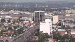 A view of Sepulveda Blvd south of LAX Stock Footage