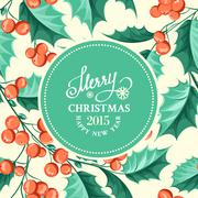 Christmas mistletoe border. - stock illustration