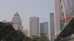 Att4fun building - farglory financial center Stock Footage