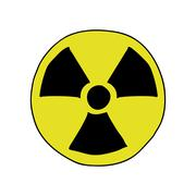 Doodle style radiation sign Stock Illustration