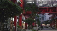 Xinyi shopping district Stock Footage