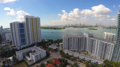 Aerial video Flamingo and Waverly Stock Footage