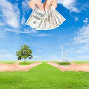 Carbon credits concept Stock Photos