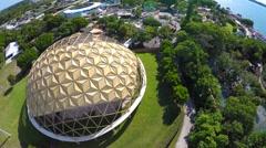 Aerial video Miami seaquarium 2 Stock Footage