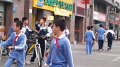 Students after school scene Stock Footage