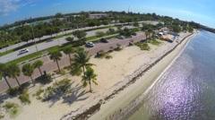 Aerial video Key Biscayne - stock footage