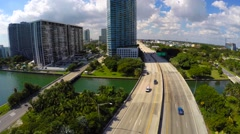 Aerial video Julia tuttle to I95 Stock Footage