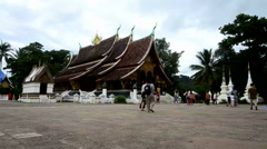 Wat Xieng Thong in Luang Prabang Stock Footage