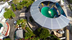 Aerial video Miami seaquarium 4 Stock Footage