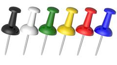 Colored pushpins Stock Illustration