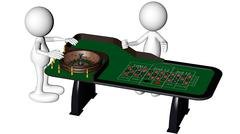 Dolls playing roulette Stock Illustration