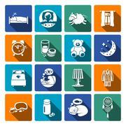 Sleep time icons flat Piirros