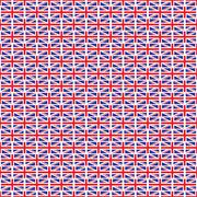 elegant seamless pattern with british flags, design element - stock illustration