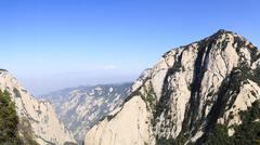 China Huashan Mountains top view Stock Photos
