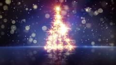 Christmas tree shape of glares loopable Stock Footage
