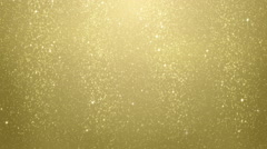 Gold glitter particles falling seamless loop Stock Footage