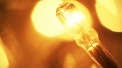 Christmas lightbulb seamless loop extremly close-up Stock Footage