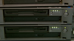 Big data servers for network in the control room - stock footage