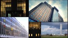 Postcard  malmo sweden multi screen collage Stock Footage