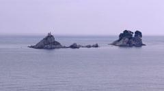 Island on the sea - stock footage