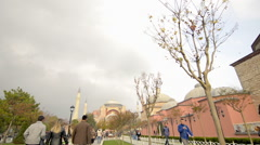 People are walking on famous historical place of Istanbul Stock Footage