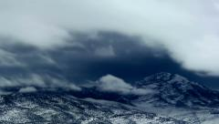 Stock Video Footage of Mountains covered with snow time lapse
