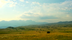 Mountain pastures in the summer - stock footage