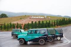 lang biang mountain, dalat, in vietnam - stock photo