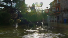 Stock Video Footage of Consequences of flooding in urban areas