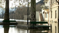 Consequences of flooding in urban areas Stock Footage