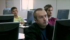 Workers learning about network systems Stock Footage