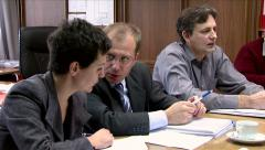 Business people on a meeting Stock Footage