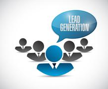 lead generation people sign illustration - stock illustration