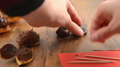 Building up a chestnut figure Stock Footage