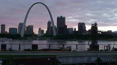 St. Louis Skyline At Dusk Stock Footage