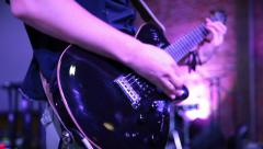 Guitarist performing on stage. Stock Footage