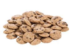 Mini chocolate chips cookies Stock Photos